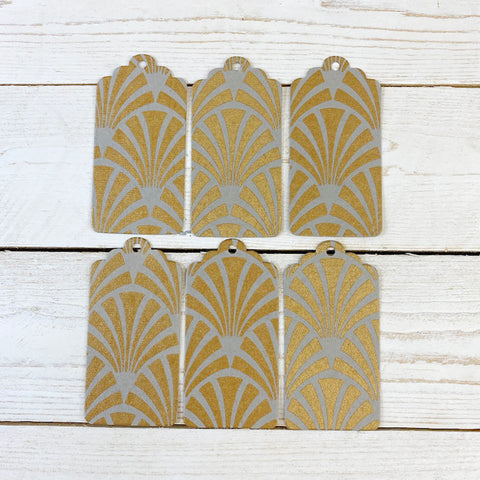 Handmade Gift Tags. Gold Deco.