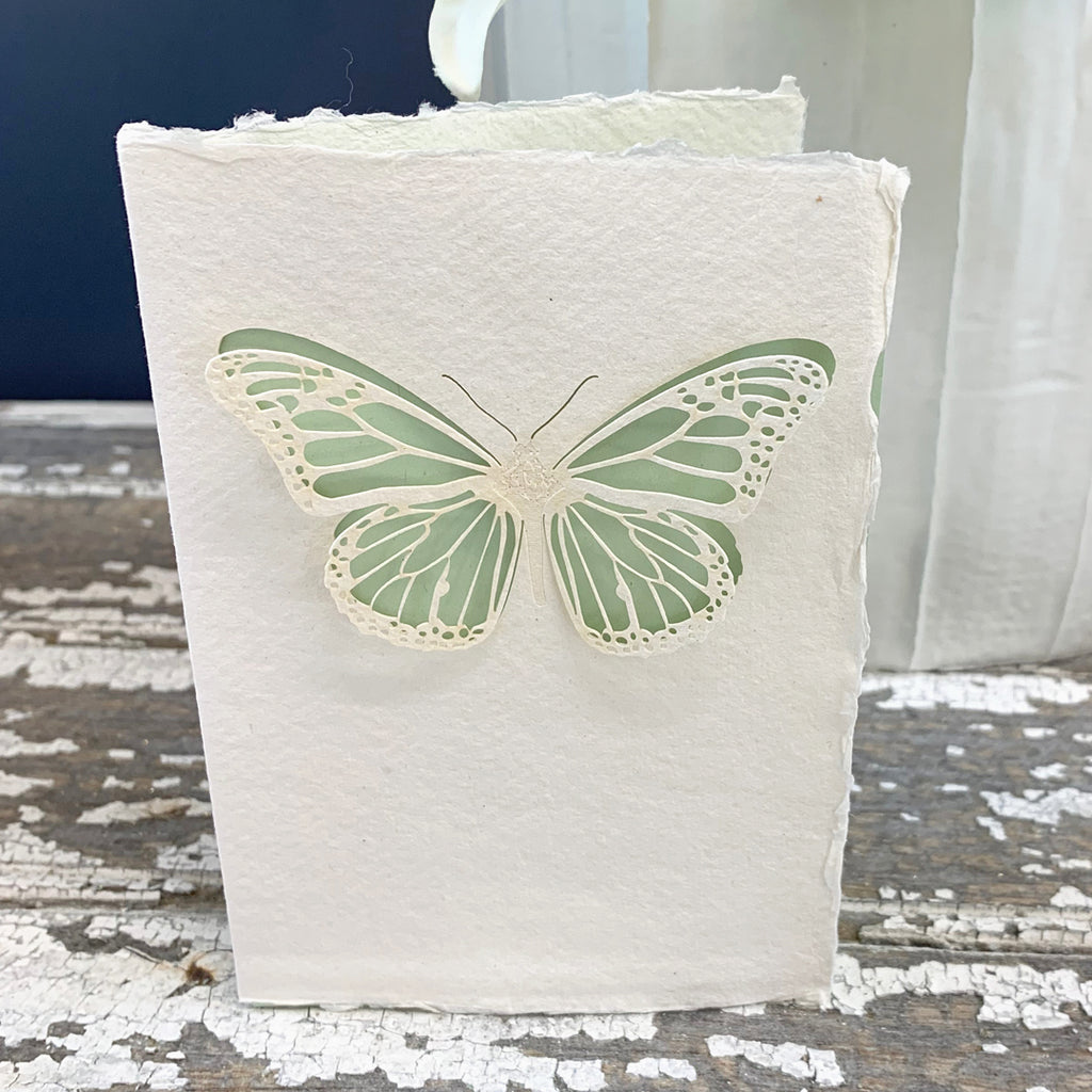 Handmade Eco Laser Cut Card, Butterfly.
