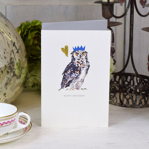 Elena Deshmukh Card, Happy Birthday, Owl.