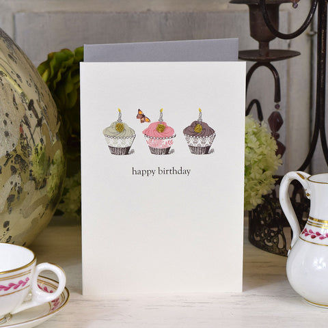 Elena Deshmukh Card, Happy Birthday Cupcakes.
