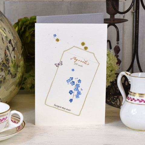 Elena Deshmukh Card, Forget Me Not.