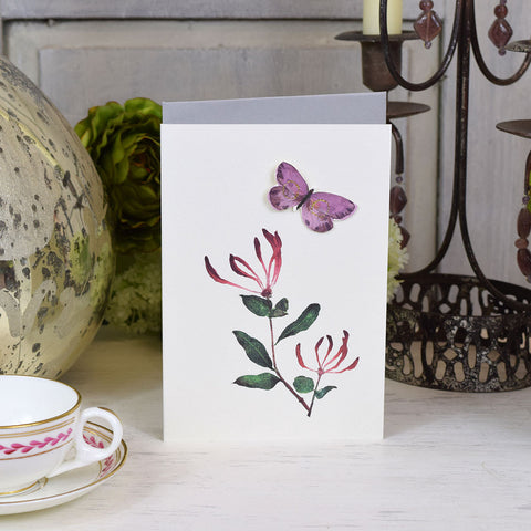 Elena Deshmukh Card, Honeysuckle.