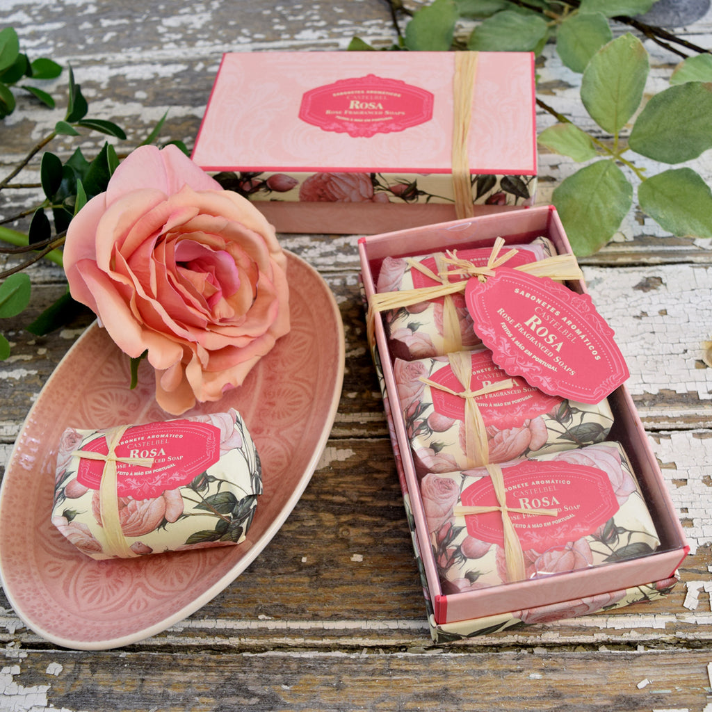 Castelbel Rose Soap Set.