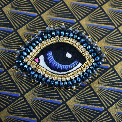 Celeste Mogador - Blue Eye Brooch