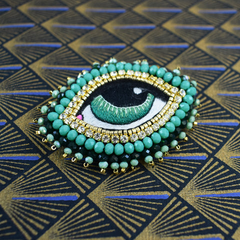 Céleste Mogador - Green Eye Brooch