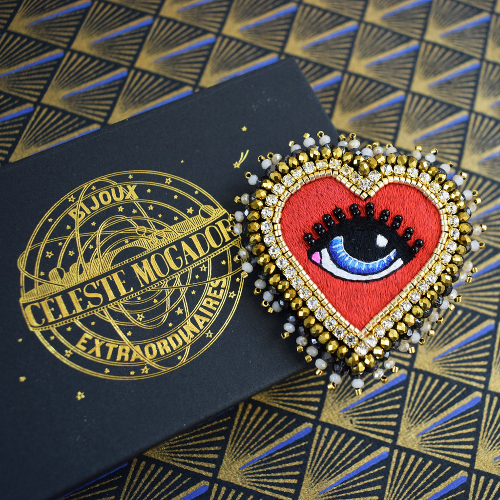 Céleste Mogador - The Love Eye Brooch