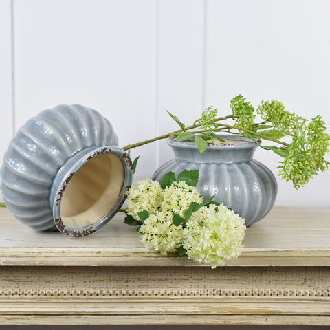 Grey antique style ceramic pots