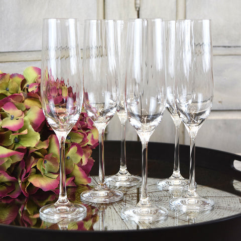 6 Champagne Flutes