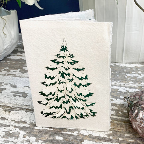 Handmade Eco Laser Cut Card, Christmas Tree.