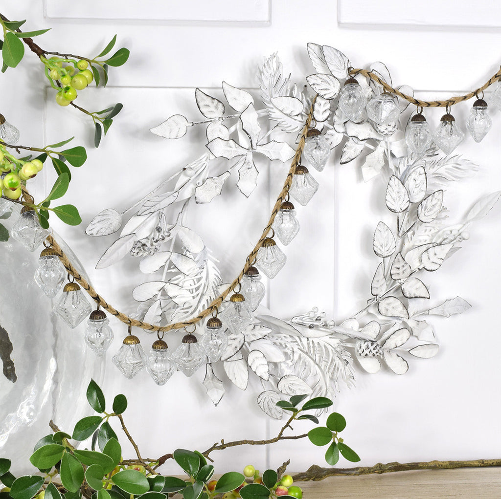 Christmas Clear Glass Garland.