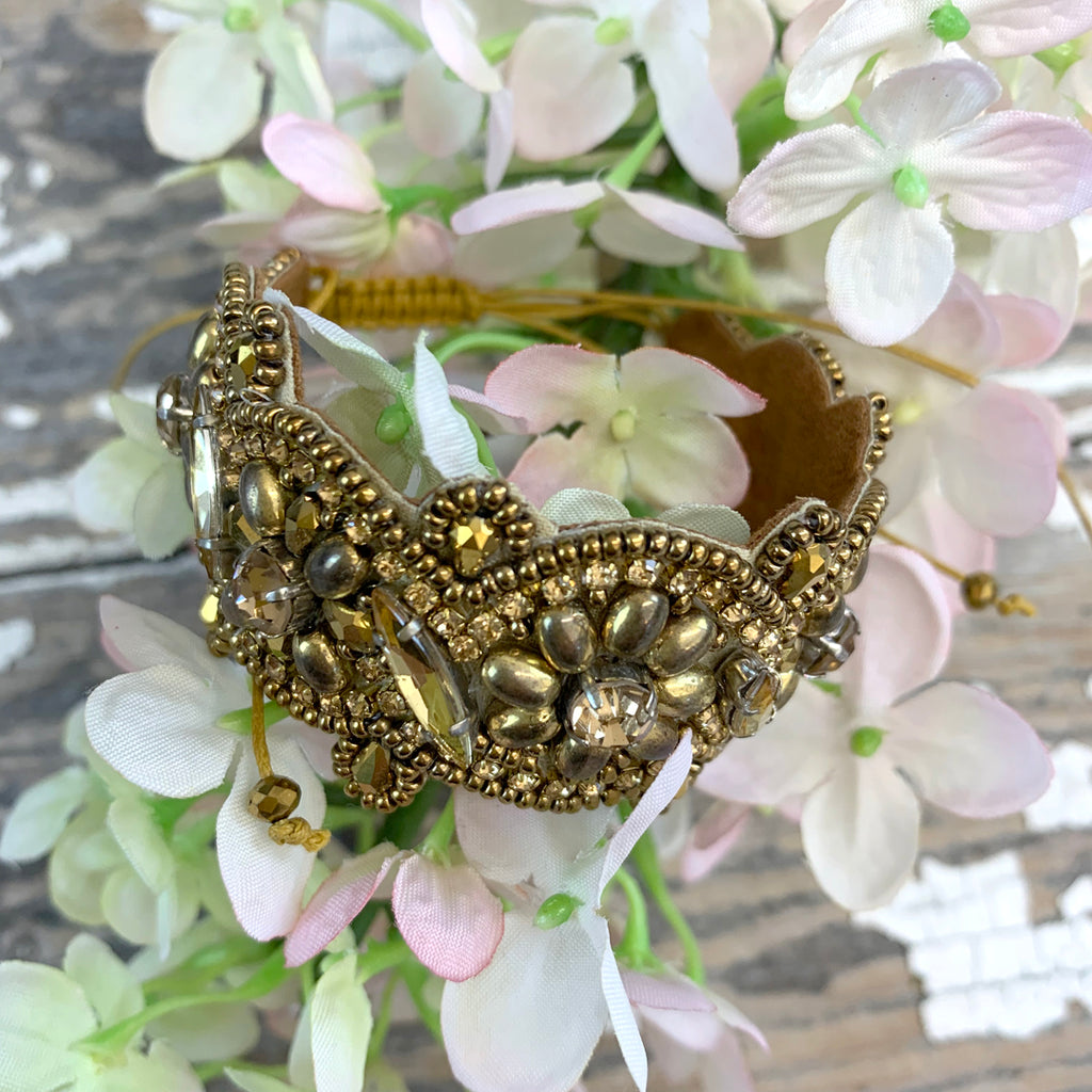 Bungalow Chunky Gold Beaded Bracelet.