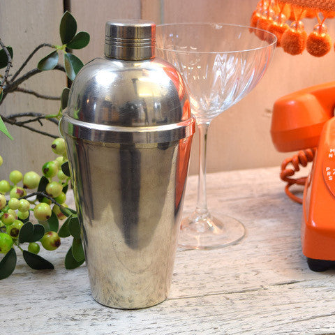 Vintage Silver Plated Art Deco Cocktail Shaker.
