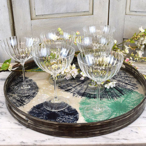 6 Champagne coupe glasses