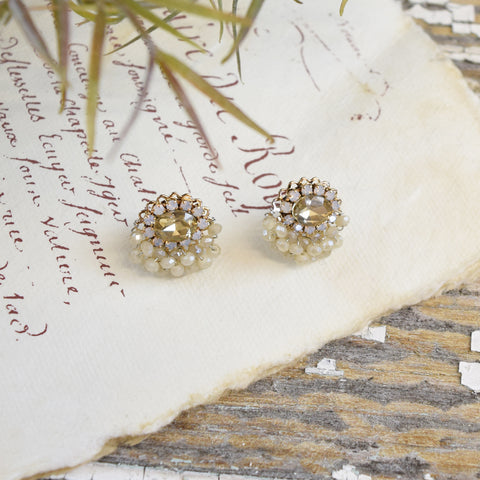 Parkside Swarovski Crystal White Stud Earrings