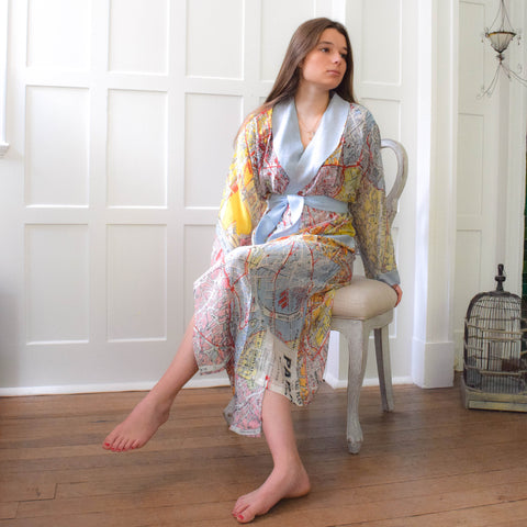 One Hundred Stars Little Paris Map Dressing Gown.