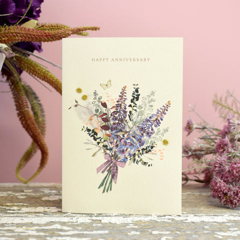 Elena Deshmukh Card, Happy Anniversary Bouquet.