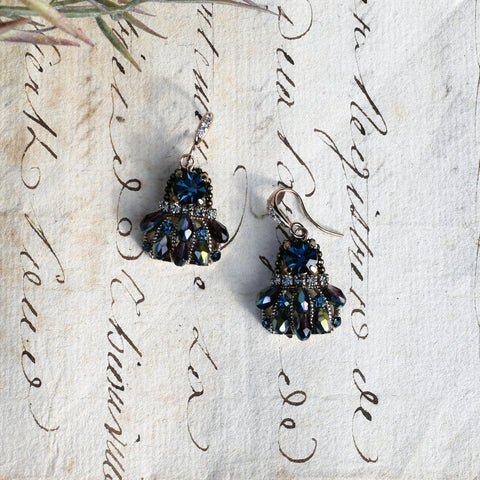 Blue Parkside Swarovski Crystal Montana Earrings