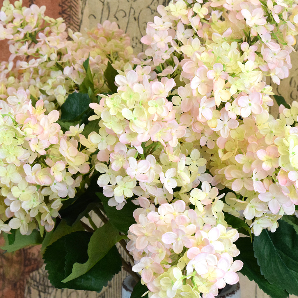 Silk Ka Faux Flowers White Hydrangea Stem Curated Living