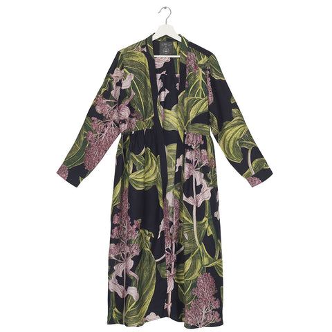 One Hundred Medinilla Black Duster Coat.