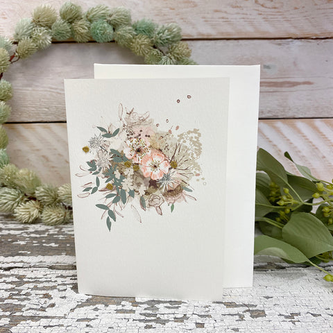 Elena Deshmukh Card, Antique Posy.
