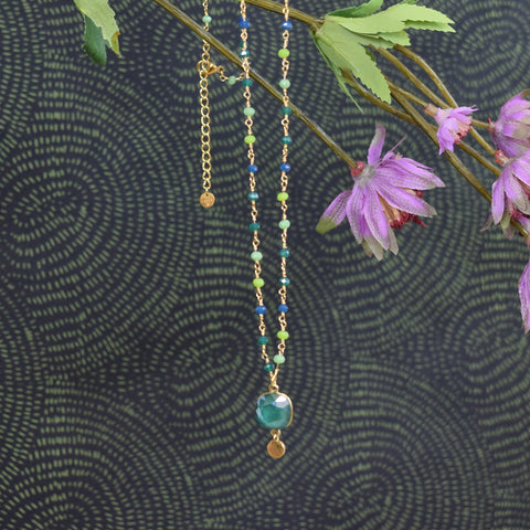 Emerald Green Crystal Swarovski Necklace