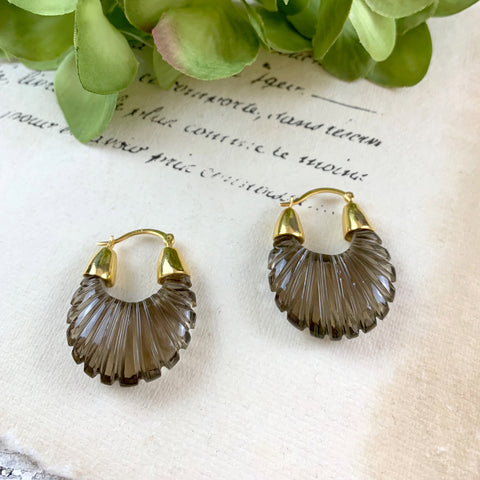 Shyla Ettienne Smokey Ridged Earrings.