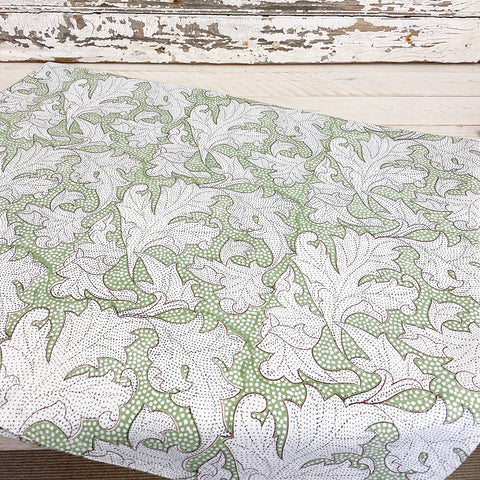 Flora Dusty Green Table Cloth. Large.