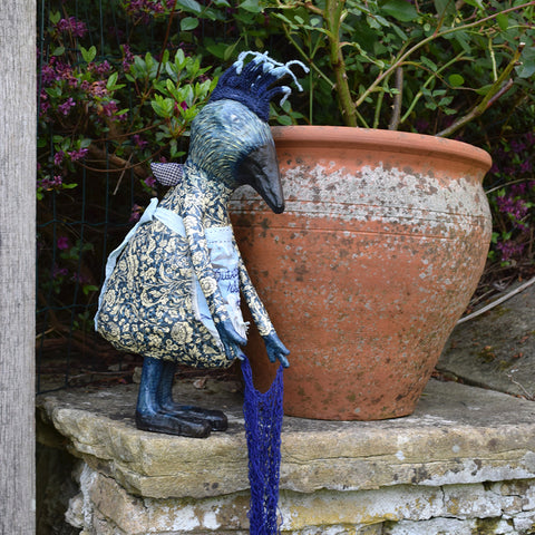 "Julie Arkell creature ""Outrageous Blue Bird'"