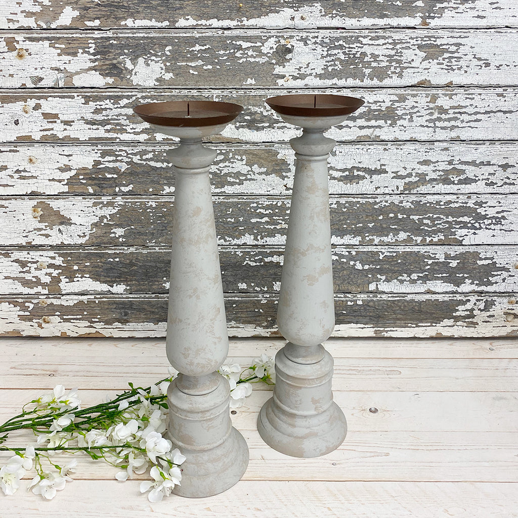 Antique Tall Vintage Candle Sticks