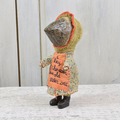 Julie Arkell Creature - A Key Character In An Old Winter Coat.
