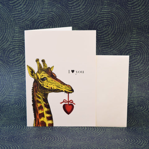 Phun House Card, I Love You Giraffe.