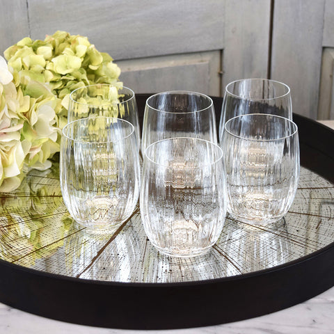 Crystal short drinking glasses