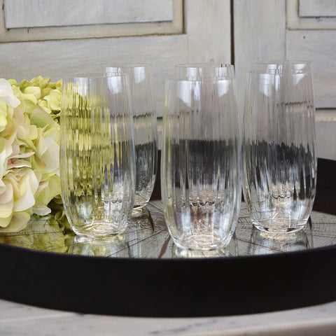 Tall drinking glasses
