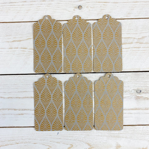 Handmade Gift Tags. Gold Leaf.