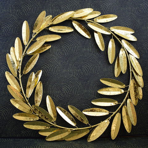 Gold Leaf Antique Effect Wreath