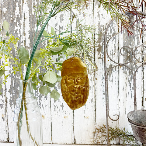 Golden Santa Christmas Hanging Decoration