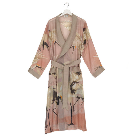 One Hundred Stars Pink Stork Dressing Gown.
