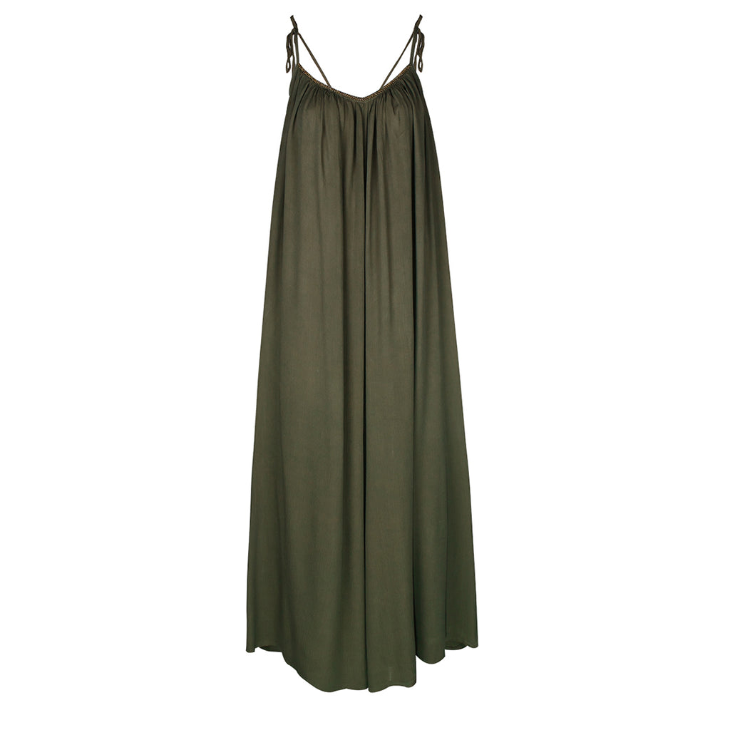 Belle & Toile Moss Green Jumpsuit.