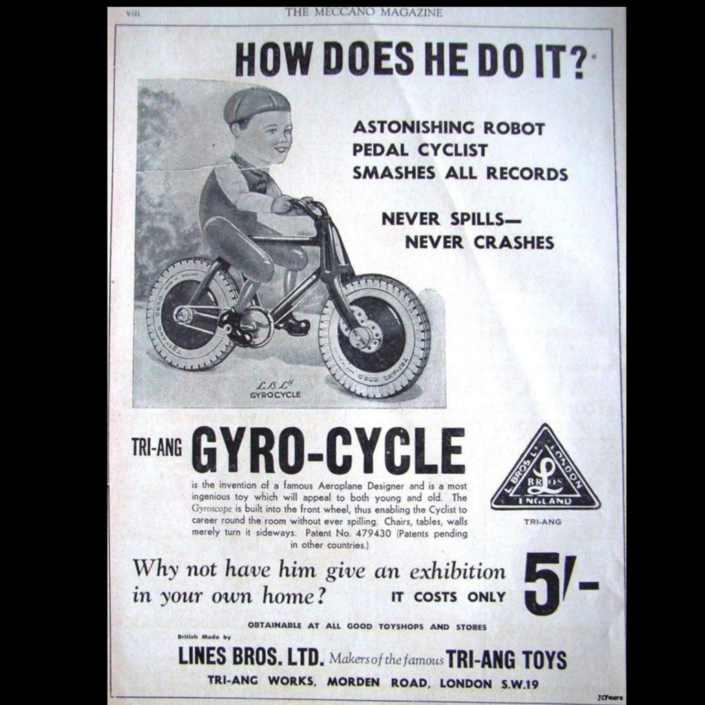 Gyro-Cycle 1930s Robot Toy.