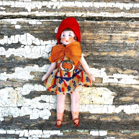 Hertwig Antique Miniature Flapper Doll
