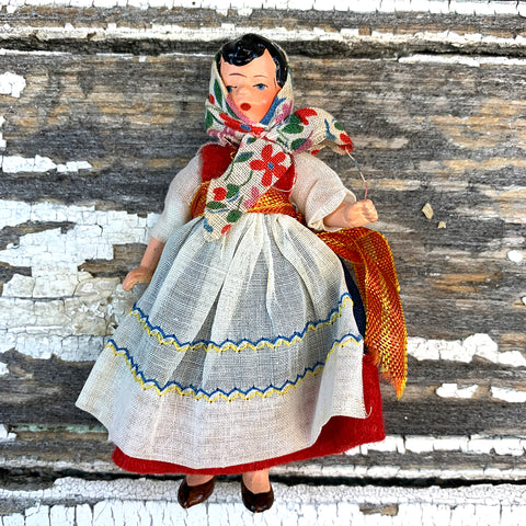 Hertwig Antique Miniature Peasant Doll
