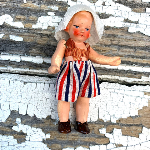 Hertwig Antique Miniature Dutch Girl Doll