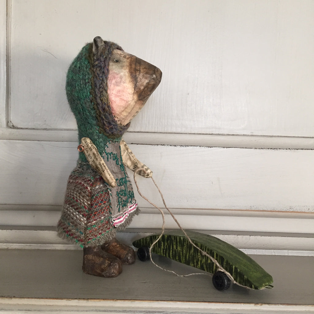 Julie Arkell Creature with pull along toy 'My Hill of Comfort and Knowledge'