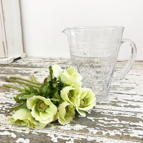 Vintage Clear Water Jug.