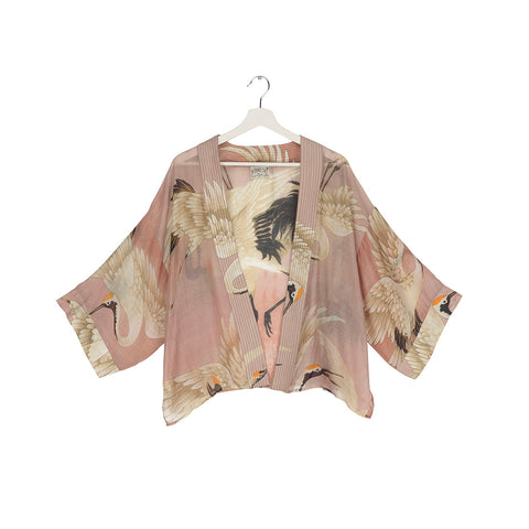 One Hundred Stars Pink Stork Kimono.