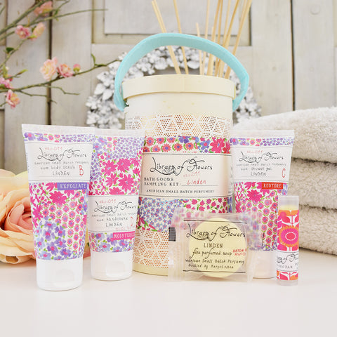 Library of Flowers scented sample kit