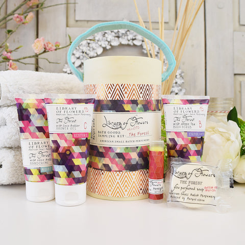 Library of Flowers The Forest toiletry sample pack