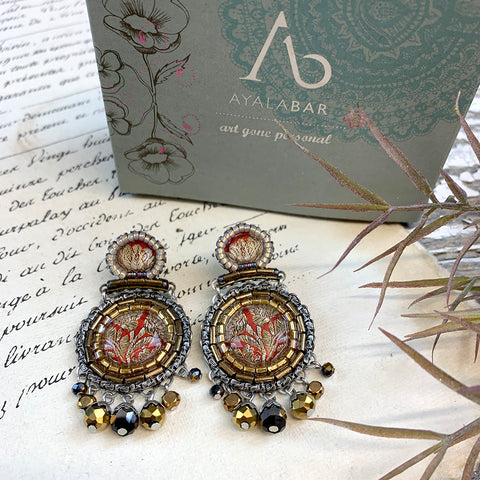 Ayala Bar Golden Fog Penny Earrings.