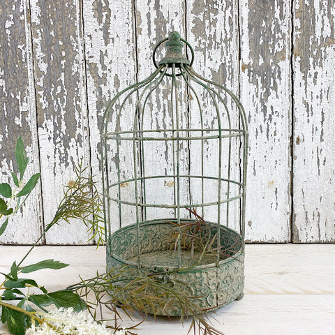 French Vintage Style Metal Circular Birdcage. Large.