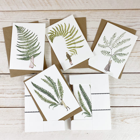 Laura Stoddart Fabulous Ferns Notecard Set.